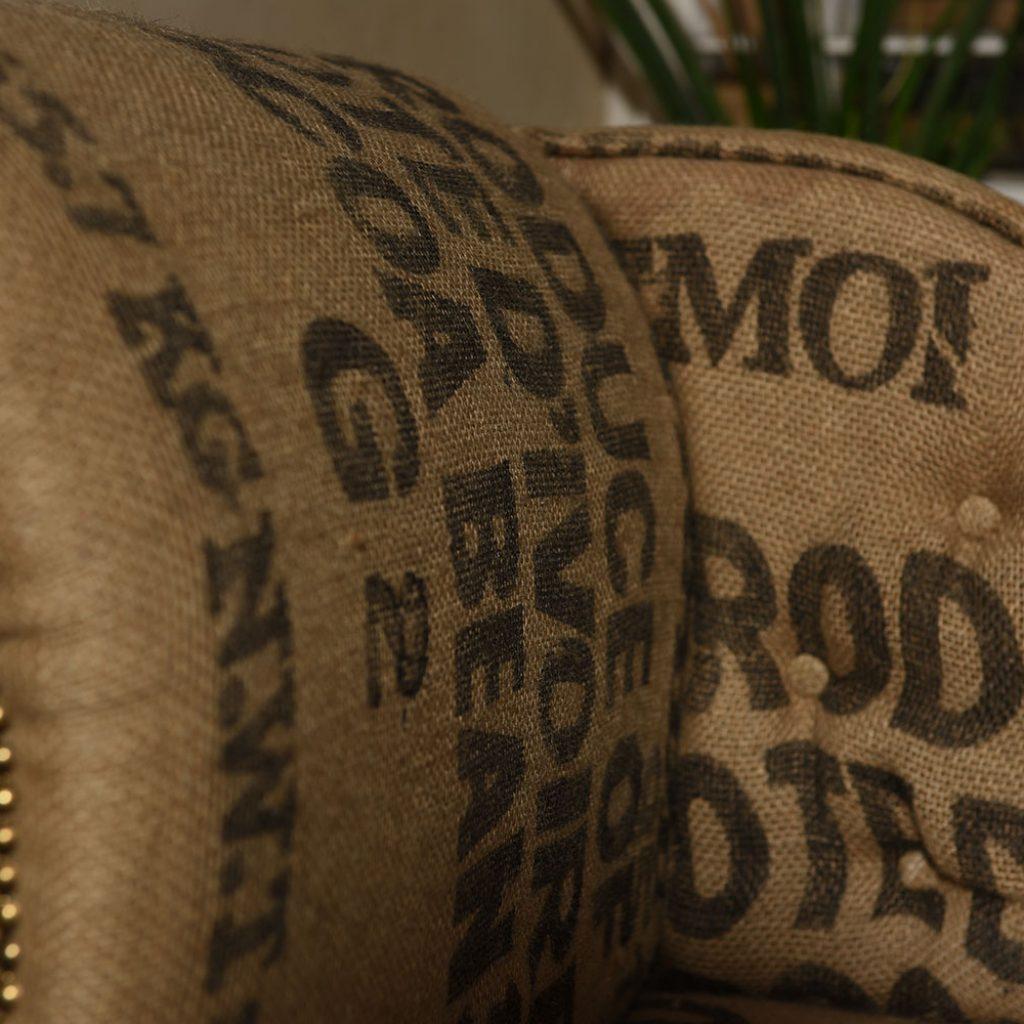 Jute Palettenkissen Upcycling Kissen aus Kaffeesack