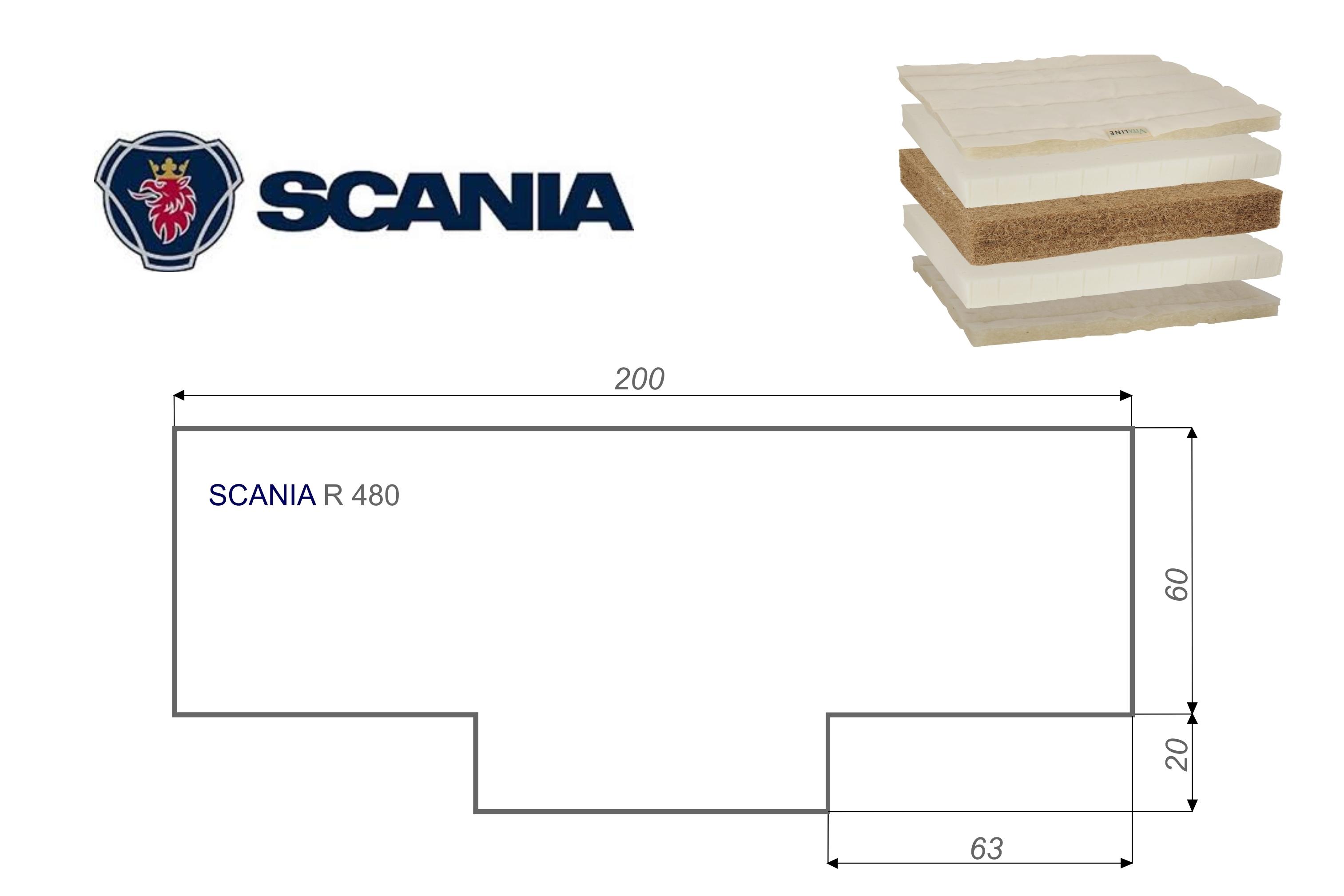 Matratze SCANIA R480 Vita-line Extra Plus