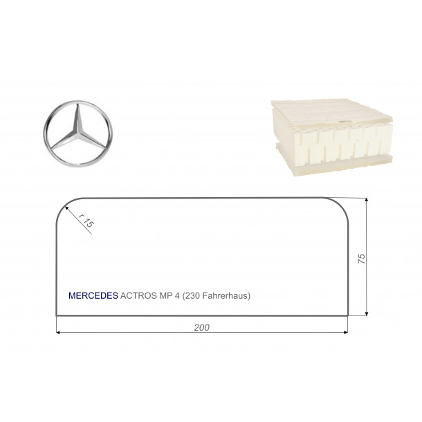 Mercedes ACTROS MP4 75x200 cm LKW Matratze Vita-line Pur Light
