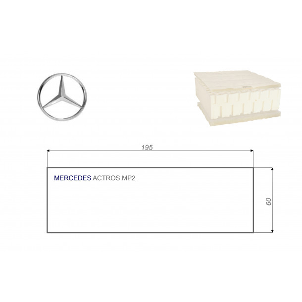 Mercedes ACTROS MP2 60x195 cm LKW Matratze Vita-line Pur Light
