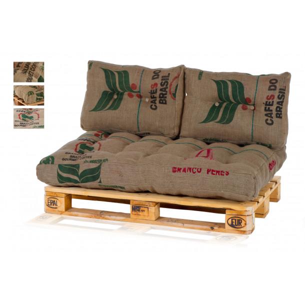 Palettenkissen Palettenpolster aus 100% Kaffesäcken / Jute