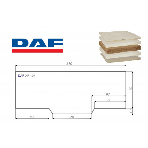 DAF XF 105 80x210 cm LKW Matratze Vita-line Extra Plus