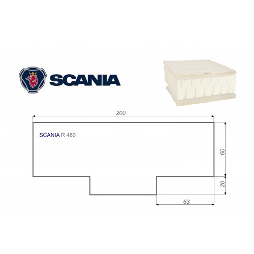 SCANIA R 480 80x200 cm LKW Matratze Vita-line Pur Light