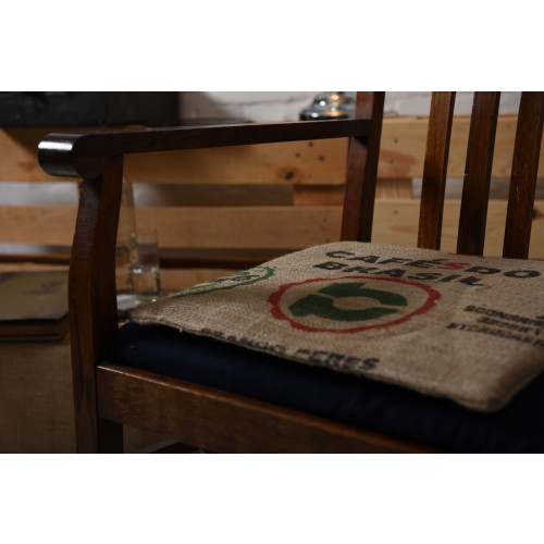 Stuhlkissen Sitzauflage Sitzkissen aus Kaffeesäcken Jute 40x40x1,5 cm