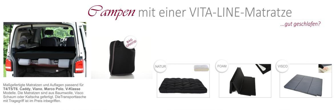 Campen mit einer Vita-line Matratze